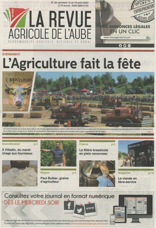 REVUE AGRICOLE DE L'AUBE (LA)