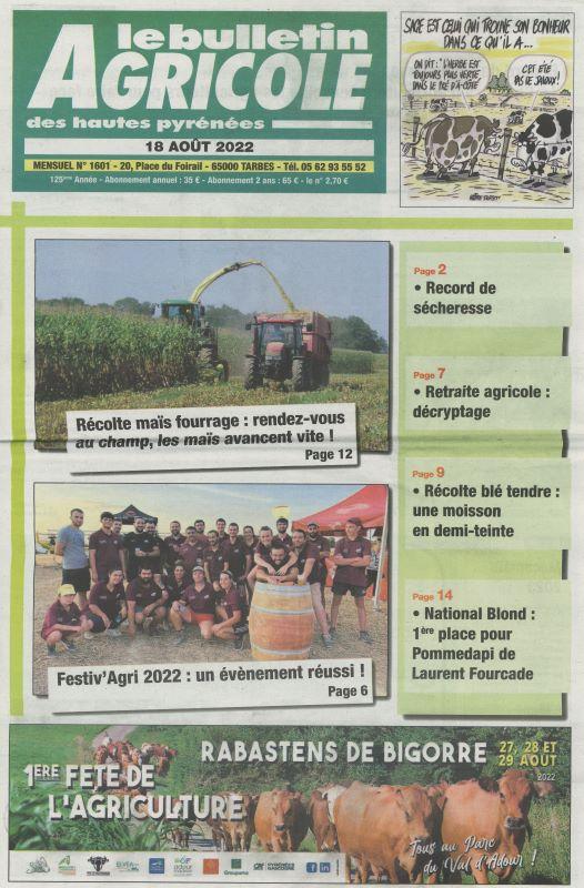 BULLETIN AGRICOLE DES HAUTES PYRENEES (LE)