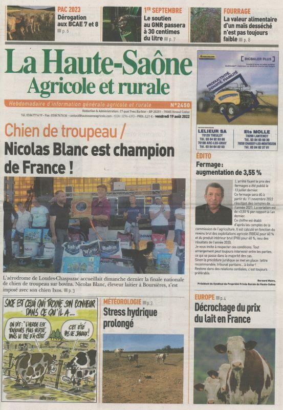 HAUTE-SAONE AGRICOLE ET RURALE (LA)